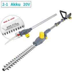 Fanztool Akku-Heckenschere FANZTOOL 20V Li-Ion Akku 2-in-1 Hochentaster/teles
