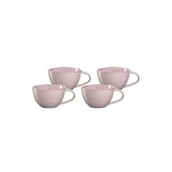 LEONARDO Tasse MATERA Keramiktasse 180 ml rosa 4er Set (4-tlg), Keramik