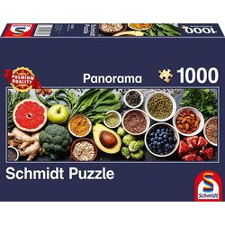 Schmidt Spiele Puzzle Schmidt 58361 - Premium Quality - Auf dem Küchentisch - Panorama Puzzle 1000 Teile, Puzzleteile
