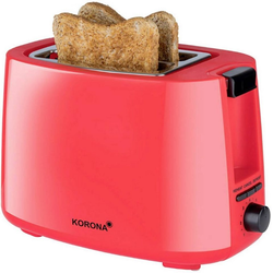KORONA 2-in-1-Toaster Korona 21132 Toaster in rot, 2 Scheiben mit Brötchenaufsatz, 750 W