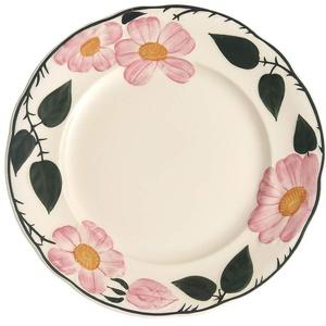 Villeroy & Boch Wildrose Frühstücksteller, 21 cm, Premium Porzellan, Weiß/Bunt