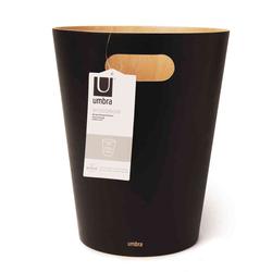Umbra Papierkorb Woodrow, schwarz 23x23x28cm