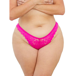 Escante Plus Size Hot Pink Tanga aus Spitze