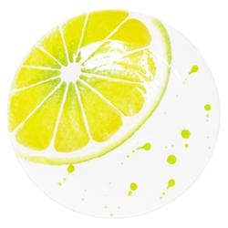 Lashuma Servierplatte Zitrone, Keramik, Servierteller rund, italienische Dessertplatte Ø 16 cm