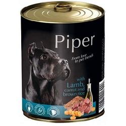 PIPER Lamm, Karotte & Brauner Reis Nassfutter Hundefutter Dosen (16 x 0,8 kg)
