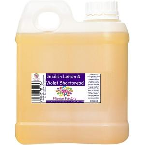Flavour Factory Intensiver Lebensmittelgeschmack, 1000 ml, sizilianische Zitrone und Veilchen