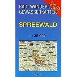 Rad-  Wander- & Gewässerkarte Spreewald  2 Bl. - Buch