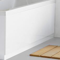 Badewannenverkleidung Weiß 1700 mm Acryl gerade Schürze, von Hudson Reed