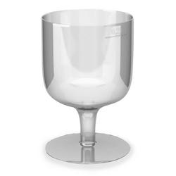 Einweg-Weinglas 200ml,  PS, 1 tlg. Ausführung, transparent glasklar, 10 Stk.