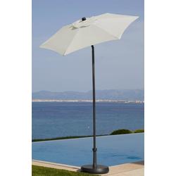 garten gut Sonnenschirm Push up Schirm Rom, abknickbar, ohne Schirmständer weiß