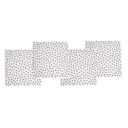 Jabadabado Serviette Konfetti Schwarz 16 cm