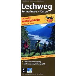 Lechweg Formarinsee - Füssen 1:25 000