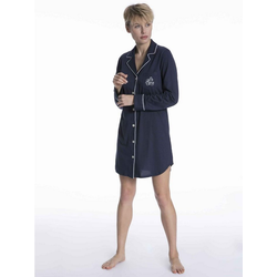 Lauren Ralph Lauren Nachthemd Nachthemd geknöpft (1-tlg) blau XL = 48