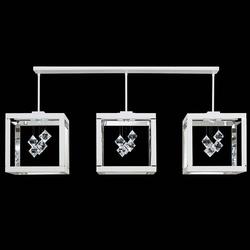 Swarovski Fyra LED Kristall-Lampe in Schwarz mit klaren Kristallen
