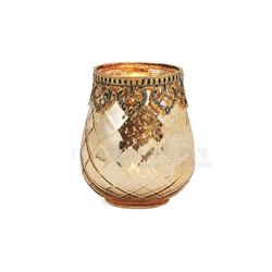matches21 HOME & HOBBY Kerzenständer Teelichtglas orientalisch Orient Windlicht antik 10 cm