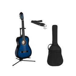 Konzertgitarre Konzertgitarren-Set 7/8 blau