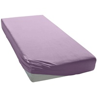elegante Spannbettlaken Mako-Jersey 90 x 200 - 100 x 220 cm lavendel