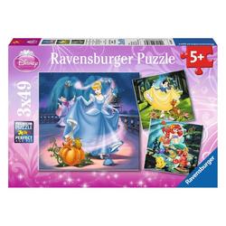 Ravensburger Puzzle Schneewittchen, Aschenputtel, Arielle, 147 Puzzleteile