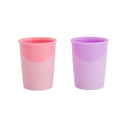 Twistshake Trinklernbecher Trinkbecher, 2er Set, 170 ml, Pastel Pink & Purple rosa