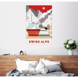 Posterlounge Wandbild, Swiss Alps 60 cm x 90 cm