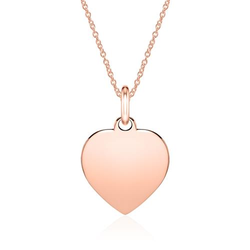Gravierbare Halskette Herz aus 585er Roségold