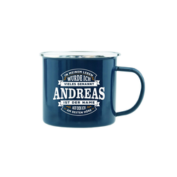 HTI-Living Becher Echter Kerl Emaille Becher Andreas, Emaille