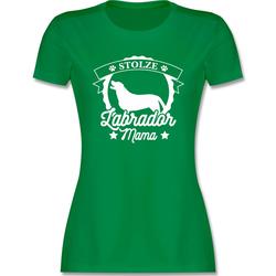 Shirtracer T-Shirt Stolze Labrador Mama - Hunde - Damen Premium T-Shirt - T-Shirts hunde t shirt labrador XL