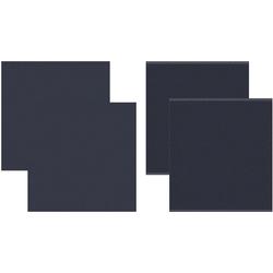 DDDDD Geschirrtuch Cisis, (Set, 4-tlg), Combiset: 2 Küchentücher & 2 Geschirrtücher blau