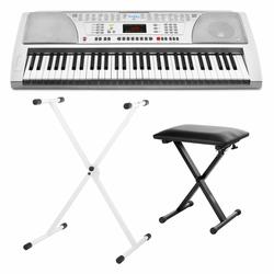 FunKey 61 Keyboard SET inkl. Keyboardständer Weiß + Bank