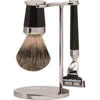 Erbe Shaving Shop Premium Design PARIS Dachshaar & Mach3 Edelharz schwarz Rasiergarnitur
