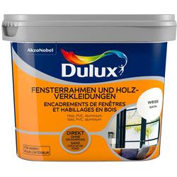 Dulux Holzlack Fresh Up, für Fensterrahmen und Holzverkleidungen, weiß, 0,75 l