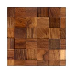WODEWA Set: 3D Wandpaneel Wodewa 50 - Nussbaum, auf Netz, 0,54 m² braun