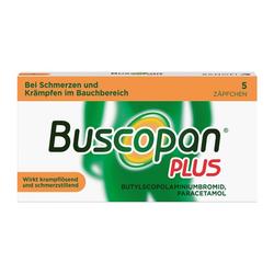 Buscopan® PLUS Zäpfchen 5 Stück bei Bauchschmerzen 5 St