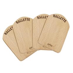 KÜCHENPROFI Raclette Brettchen Holz 4er Set