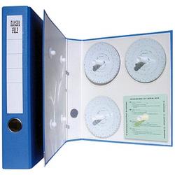 HAUG Diagrammscheiben Diagrammscheibenordner blau Kunststoff 5,0 cm DIN A4