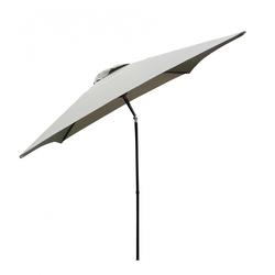 Madison Sonnenschirm 200x200cm Balkonschirm mit Knickfuntion (MD) taupe
