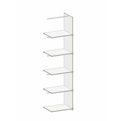 Regalsystem M6 weiß, Designer Matthias Gentner, 197x50.2x39 cm