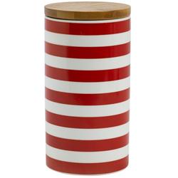 Keksdose Stripe, Porzellan, Holz, (1-tlg), Ø 9,5 cm