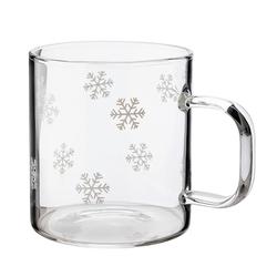 Dorre Glasbecher mit Schneeflocken 2 dl 4 Stück