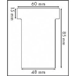 Steckkarten Gr. 2 VE=100 Stück rot