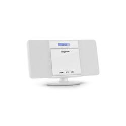 ONECONCEPT V-13 BT Stereoanlage CD MP3 USB Bluetooth Radio Wandmontage Kompaktanlage (UKW-Radiosender, 0 W) weiß