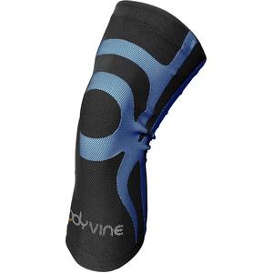 BODYVINE Unisex – Erwachsene Triple 3-Lagen Kompressions Knie Bandage mit Power-Band Compression Taping, Blau, S