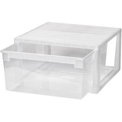 KREHER Aufbewahrungsbox 23 Liter, mit Schublade weiß