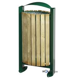 Stand-Abfallbehälter mit Holzverkleidung h8610