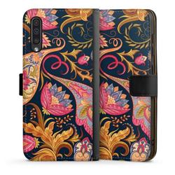DeinDesign Handyhülle Floral Autumn 1 Samsung Galaxy A50, Hülle Muster Ornamente Mandala schwarz