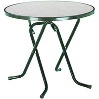 BEST Freizeitmöbel Primo Klapptisch Ø 80 x 70 cm grün