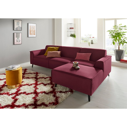 DOMO collection Ecksofa, mit Federkern rot