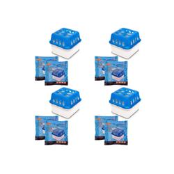 BigDean Luftbefeuchter 4x Ultra Fresh Luftentfeuchter Raumentfeuchter mit Nachfüll−Granulat