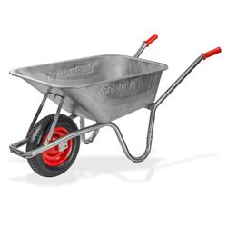 Metall Schubkarre Schubmulde Bauschubkarre Gartenschubkarre 100L Luftbereifung