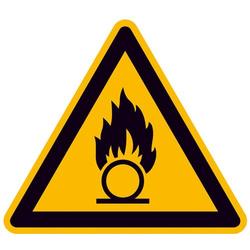 Warnschild Brandfördernde Stoffe Aluminium 200mm ISO 7010 1St.